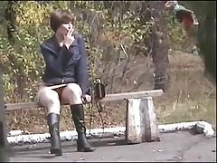 Podsmotreno - po doroge bez trusikov